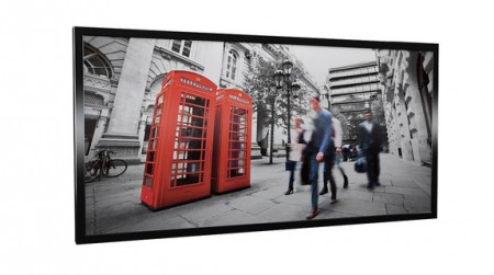 PANELOVN I GLASS MED MOTIV - LONDON 600W